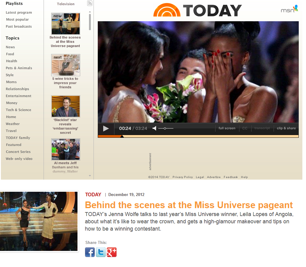 Behind the scenes at the Miss Universe pageant